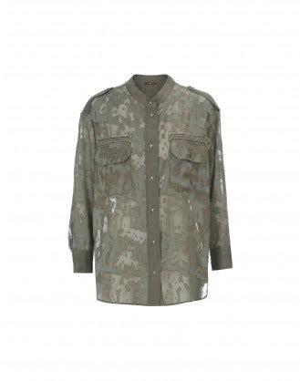 REPORTER: Camicia khaki taglio laser camouflage