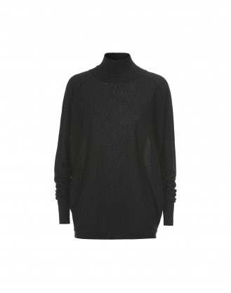 ARDENT: Black super wide extra high roll neck