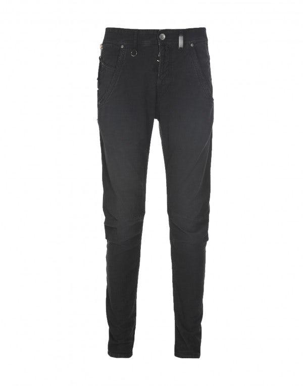 STEFAN: Pantaloni grigio carbone con cuciture