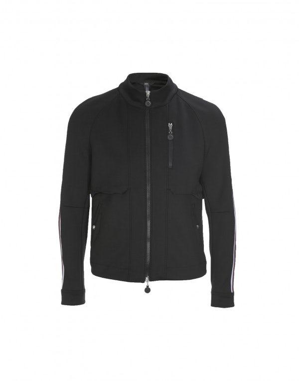 INGMAR: Giacca sportiva con zip nera