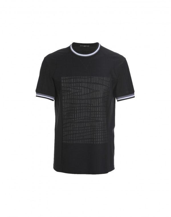 ROLF: T-shirt nera con stampa