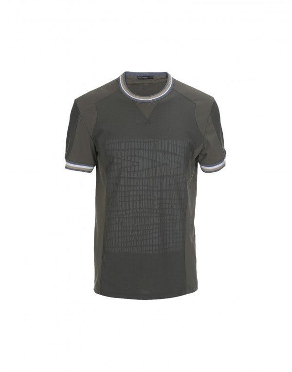 ROLF: T-shirt khaki con stampa