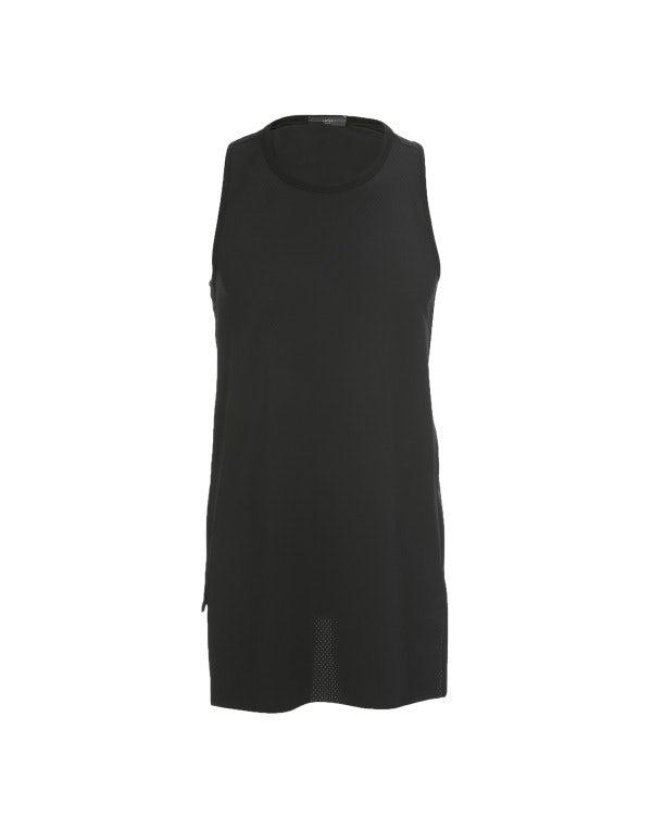 ALF: Canotta nera in jersey tecnico traforato