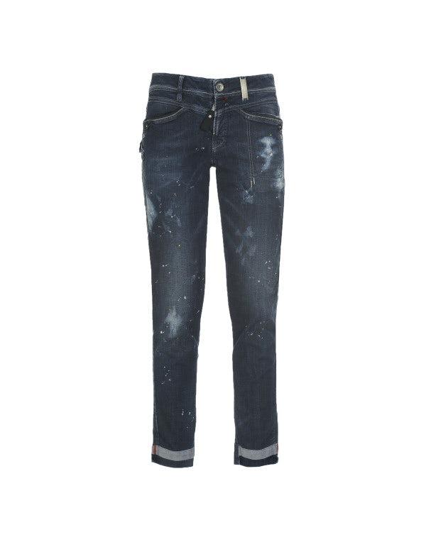 CALL-ME: Jeans aderenti con trattamento