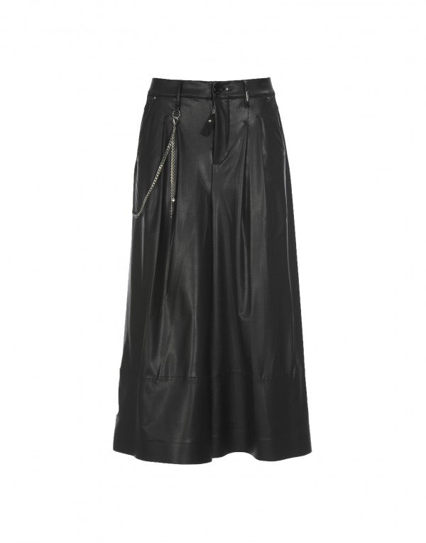 BRIG: Culottes in ecopelle nera
