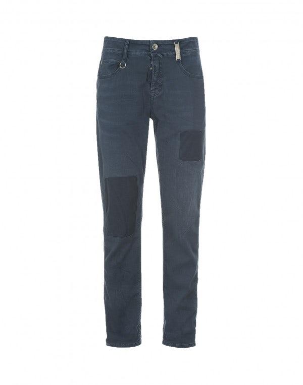 NEW BOY: Pantaloni blu con trattamento