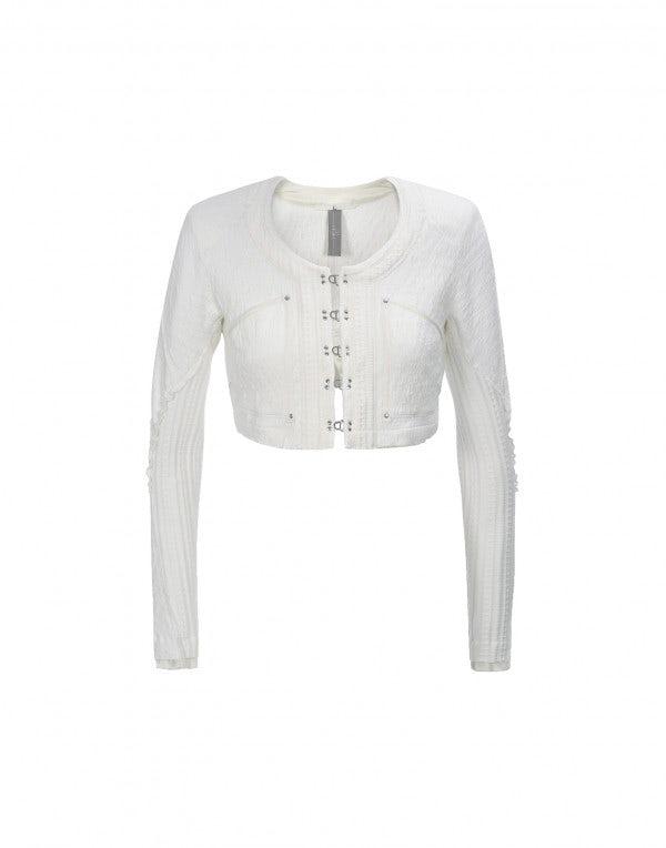 SINBAD: Bolero corto in jersey color crema
