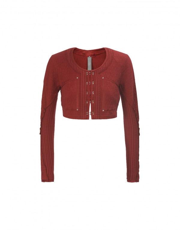 SINBAD: Bolero corto in jersey rosso