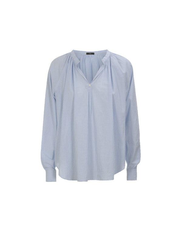 WITNESS: Camicia in cotone rigato bianco e azzurro
