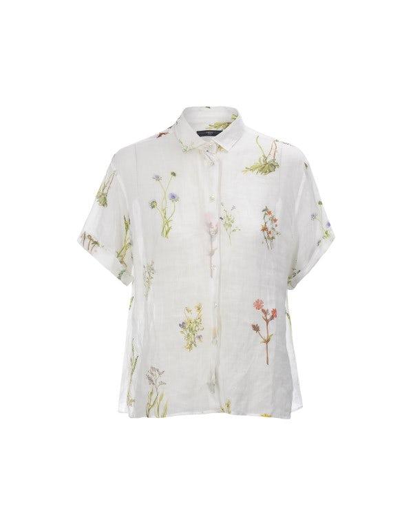 LAWN: Camicia in ramie con stampa floreale