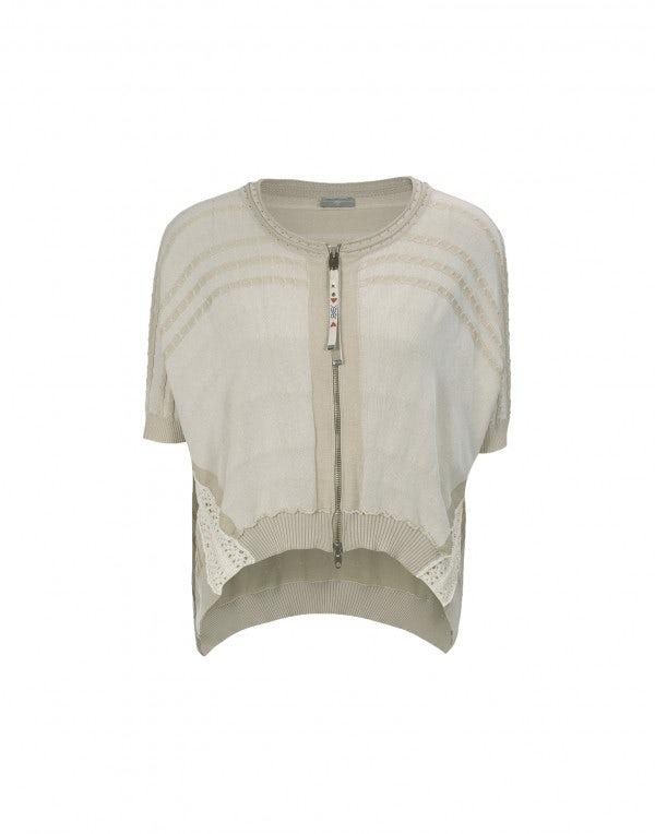 JIB: Cardigan dalla forma curva color crema