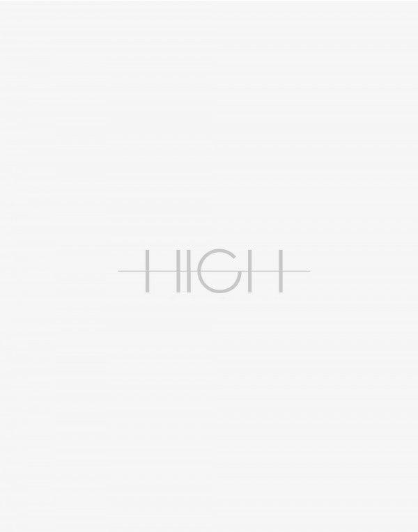 EVOKE: High neck top in cream silk with