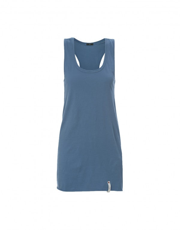 NIFTY: Canotta blu ciano in cotone
