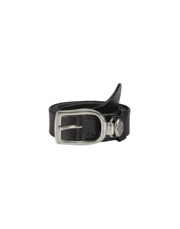 STRUP: Cintura nera con passante in metallo