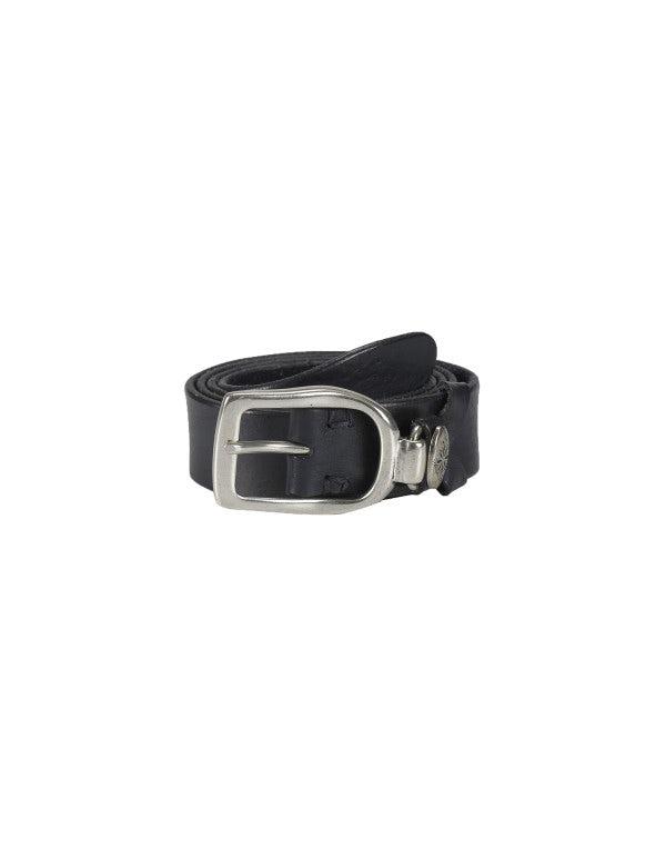 STRUP: Cintura blu navy con passante in metallo