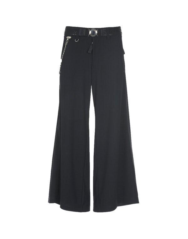 MIDSHIP: Pantaloni 7/8 blu navy