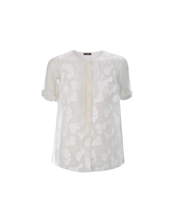 CROCUS: Blusa trasparente con motivo floreale
