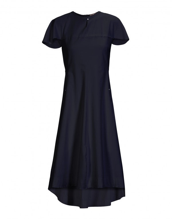 ABSOLUTE: Fitted dress with shoulder