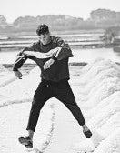 MINIMAC: Pantaloni in twill tecnico nero con cuciture multiple