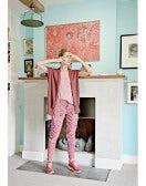 BRAVERY: Pantaloni in stile jodhpur borgogna pallido