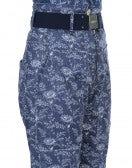"CLAMBER: Pantaloni blu con motivo floreale ""neo vintage"""