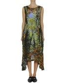 FOLLOW ME: Long Foliage-photo print dress