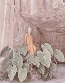 KINDLY: Abito smanicato color calendula ad A con ricami