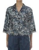 DANDY: Giacca con stampa floreale, blu scuro
