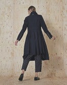 NOBLESSE: Cappotto blu navy con zip frontale