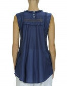 FANTASY: Sleeveless top with gathered front