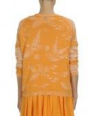 """FLIGHTY: Cotton sweater with raised """"bird"""" pattern"""