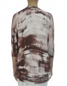 DORSAY: Cardigan con pennellate di colore, borgogna