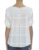 FLIPERTY: T-shirt bianca con broderie anglaise