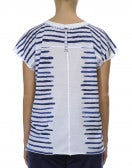 REVEL: T-shirt con righe orizzontali e motivo floreale