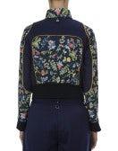 DOTING: Giacca sportiva con stampa floreale su fondo blu navy
