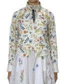 DOTING: Giacca sportiva con stampa floreale su fondo color crema