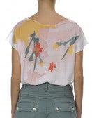 SERENE: T-shirt lunga con scollatura a barchetta