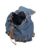GRAB: Zaino blu cielo in cotone e pelle