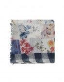 ALFRESCO: Sciarpa in cotone stampato patchwork
