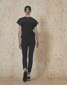 WAY-WARD: Pantaloni neri in twill tecnico con cuciture multiple