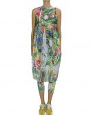 THRILLING: Floral tech mesh shift dress