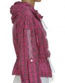 ELEMENT: Hot pink tartan check windcheater
