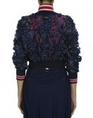 REPORTAGE: Blouson in navy 3D floral