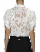 ACCLAIM: Camicia in fil coupé con balze sulle spalle