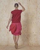 CLIPPER: Top senza maniche rosso in maglia tech a rete e pointelle