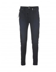STEFAN: Pantaloni blu Cambridge con cuciture