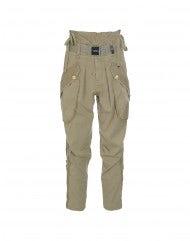 RISKY: Pantaloni cargo color biscotto