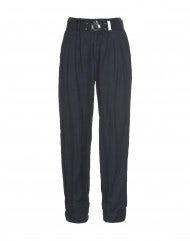 LANCER: Pantaloni in curpo e cotone blu