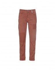 """NEW BOY: Pantaloni color terracotta con trattamento """"colour repair"""""""