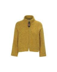LAZULI: Authentic Donegal tweed mustard fleck cardigan